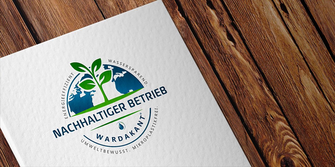 WARDAKANT-Label auf Papier gedruckt